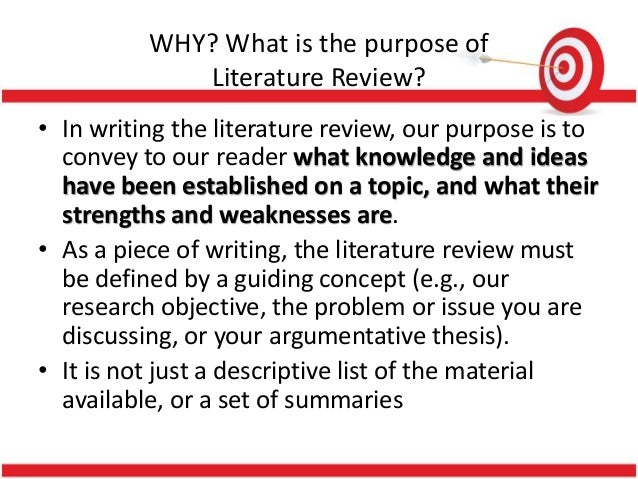purpose of literature review in research ppt