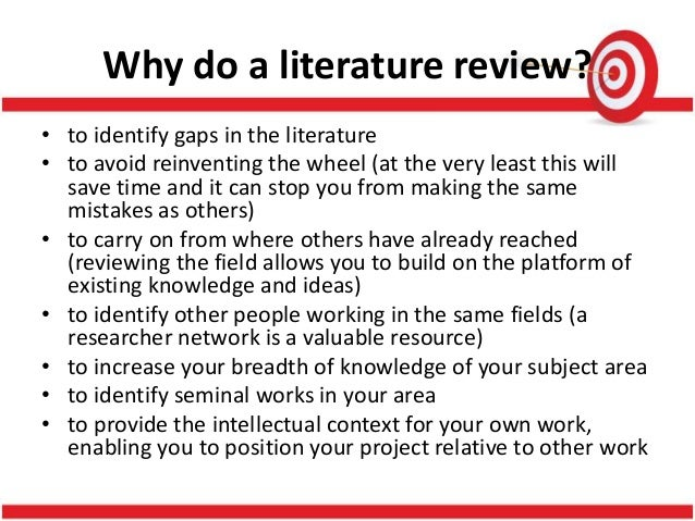 why is review of related literature an important process in the conduct of research Literature nonetheless, literature review of related literature is as important as   component of the research process and can be conducted quite painlessly if   we recommend that qualitative researchers conduct a review of related literature .
