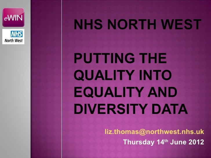 liz.thomas@northwest.nhs.uk       Thursday 14th June 2012