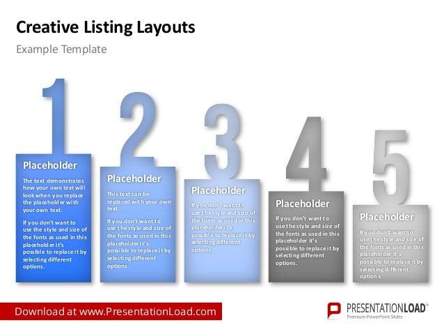 creative listing ppt slide template. Black Bedroom Furniture Sets. Home Design Ideas