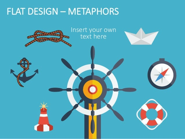 Flat design powerpoint template flat design metaphors finish toneelgroepblik Image collections