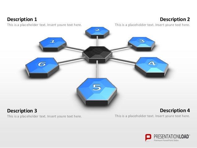 hexagon combs presentationload, Powerpoint templates