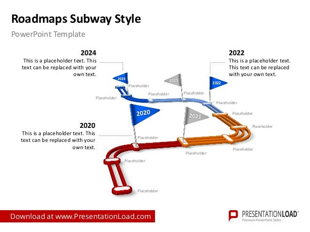 Subway Map In Powerpoint.Roadmaps Subway Style Ppt Slide Templates