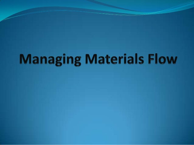 To identify the activities of materialsmanagement.To identify the role of materialsmanagement.To identify and describe ...