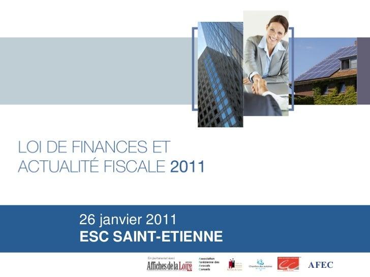 26 janvier 2011ESC SAINT-ETIENNE        En partenariat avec                              AFEC