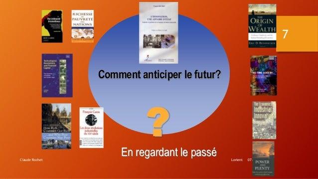 Lorient 07/10/2016Claude Rochet 7 Comment anticiper le futur? ? En regardant le passé