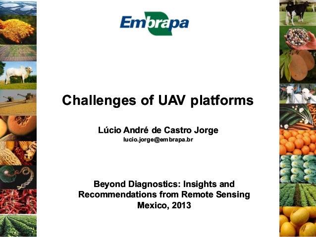 Challenges of UAV platforms Lúcio André de Castro Jorge lucio.jorge@embrapa.br  Beyond Diagnostics: Insights and Recommend...
