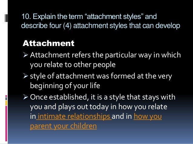 Fearful avoidant attachment style