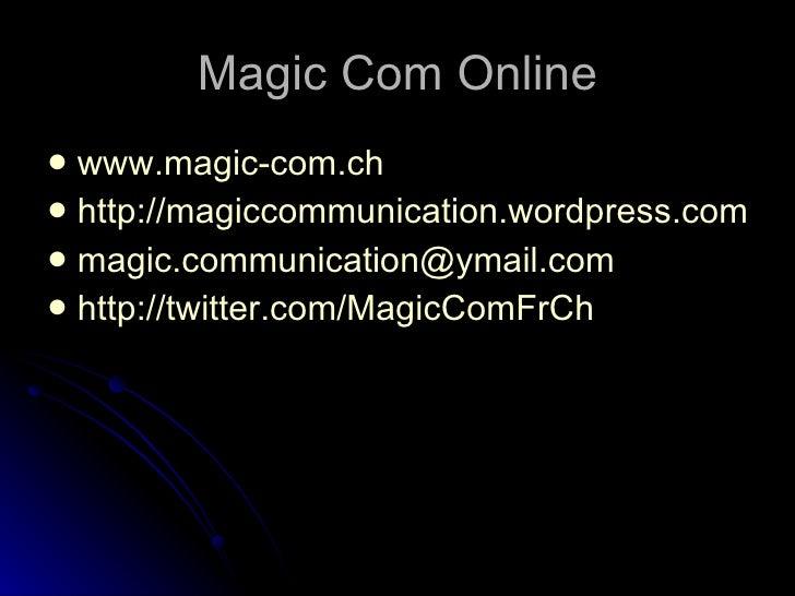 Les outils Magic