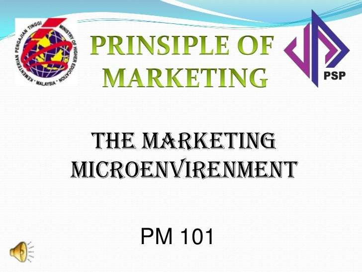 The marketingmicroenvirenment    PM 101