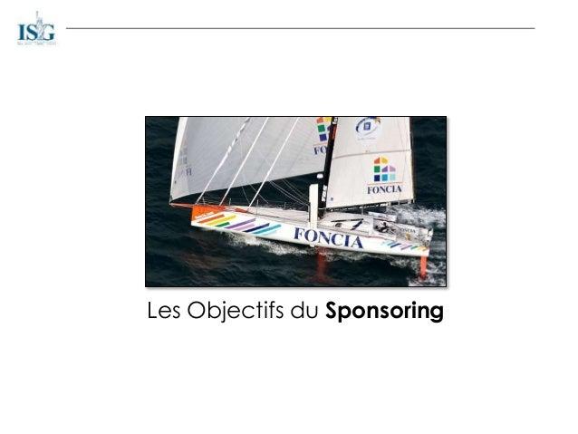 Les Objectifs du Sponsoring
