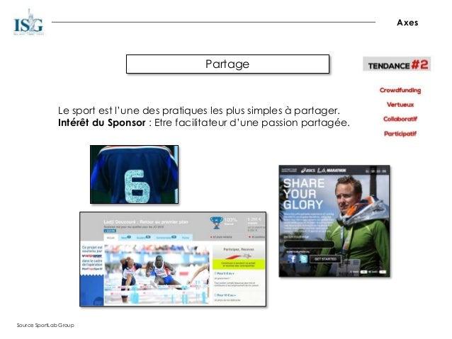 Partage Axes Source SportLab Group Le sport est l'une des pratiques les plus simples à partager. Intérêt du Sponsor : Etre...