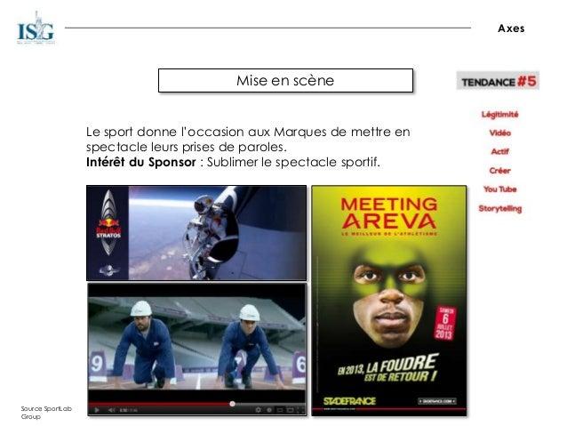 Mise en scène Axes Source SportLab Group Le sport donne l'occasion aux Marques de mettre en spectacle leurs prises de paro...