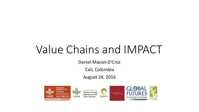 Value Chains and IMPACT Daniel Mason-D'Croz Cali, Colombia August 24, 2016