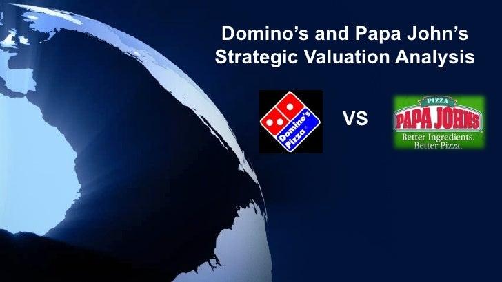 Domino's and Papa John'sStrategic Valuation Analysis             VS
