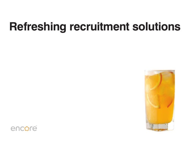 Refreshing recruitment solutions