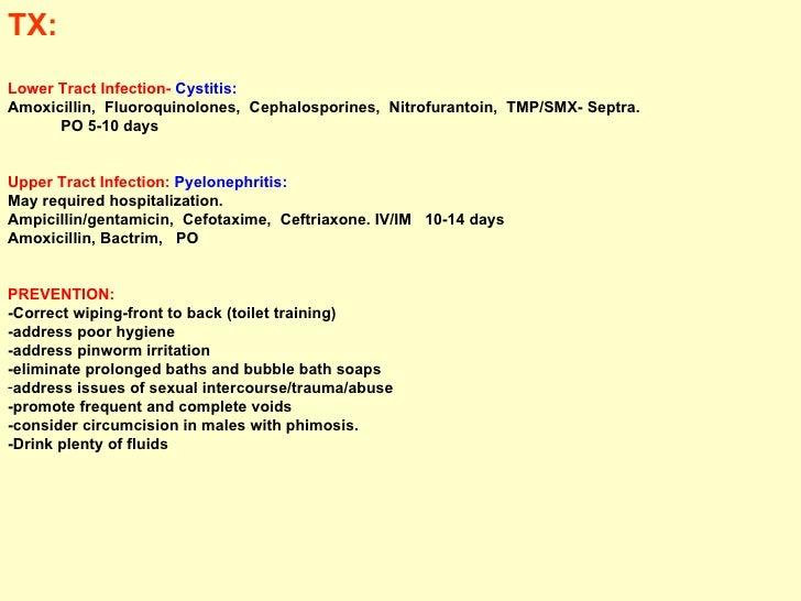 Ureteral reflux study