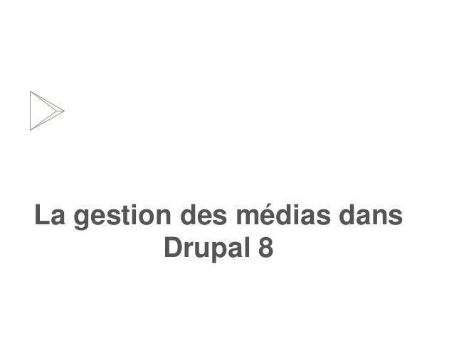 La gestion des médias dans Drupal 8