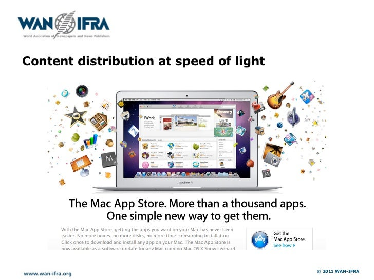 Content distribution at speed of light                                         © 2011 WAN-IFRA