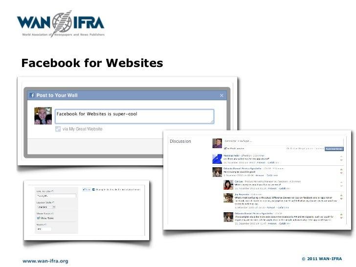 Facebook for Websites                        © 2011 WAN-IFRA