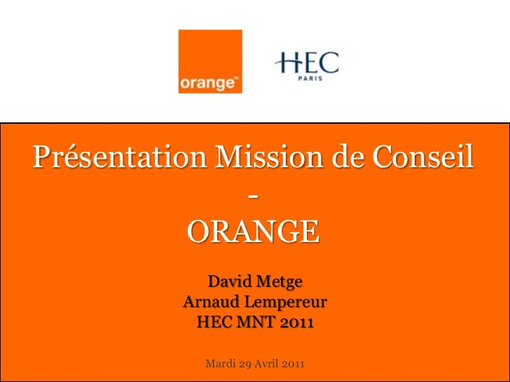 Mission HEC @ Orange Labs - Multiscreen & Marketing Stratégique