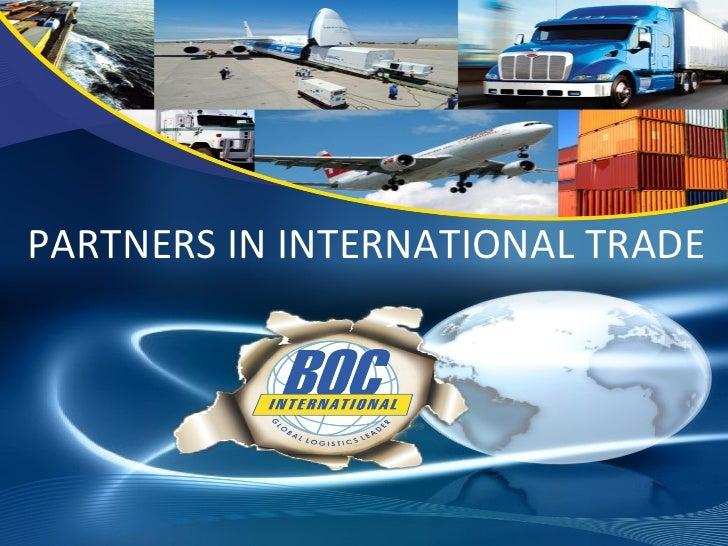 PARTNERS IN INTERNATIONAL TRADE