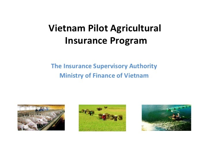 Vietnam Pilot Agricultural    Insurance ProgramThe Insurance Supervisory Authority  Ministry of Finance of Vietnam
