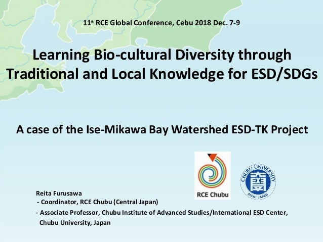 Learning Bio-cultural Diversity through Traditional and Local Knowledge for ESD/SDGs A case of the Ise-Mikawa Bay Watershe...