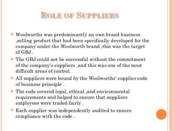 woolworths code of ethics The total south africa code of ethics offers detailed, responsible conduct guidelines adapted to south african operations.
