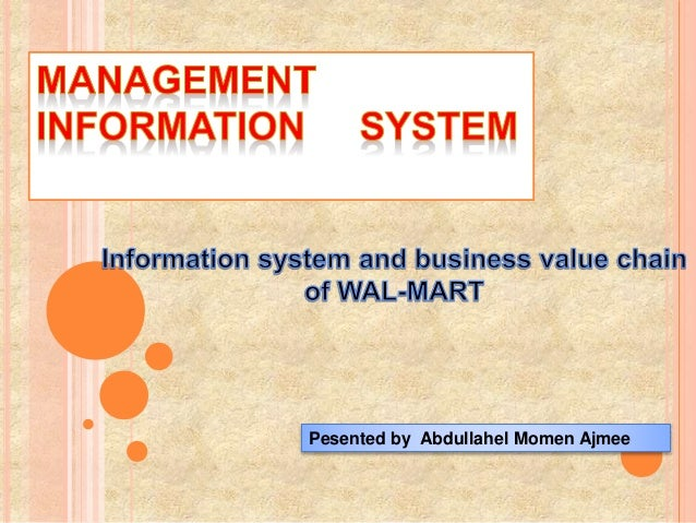 Information system technology at walmart