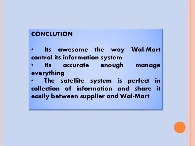 Wal mart information system advancements