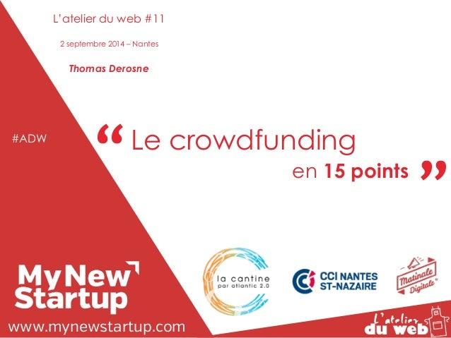 """"""" """" """"Tout Le ce que crowdfunding  vous avez toujours voulu  savoir sur le web et les réseaux sociaux...  sans jamais oser ..."""