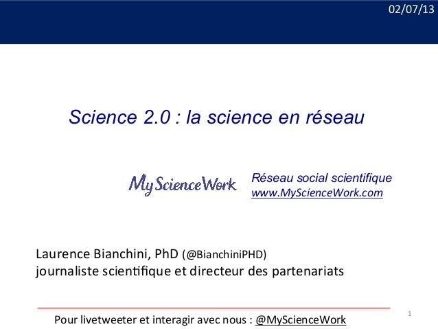 Laurence  Bianchini,  PhD  (@BianchiniPHD)   journaliste  scien8fique  et  directeur  des  partenariats ...