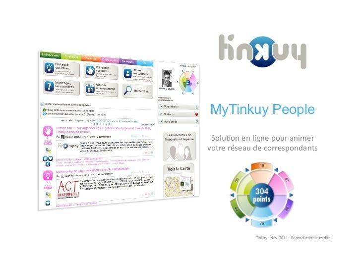 MyTinkuy People Solu%on en ligne pour animer votre réseau de correspondants                    Tinkuy ...