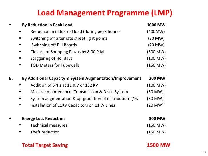 Load Management Programme (LMP) <ul><li>By Reduction in Peak Load    1000 MW </li></ul><ul><ul><li>Reduction in industrial...