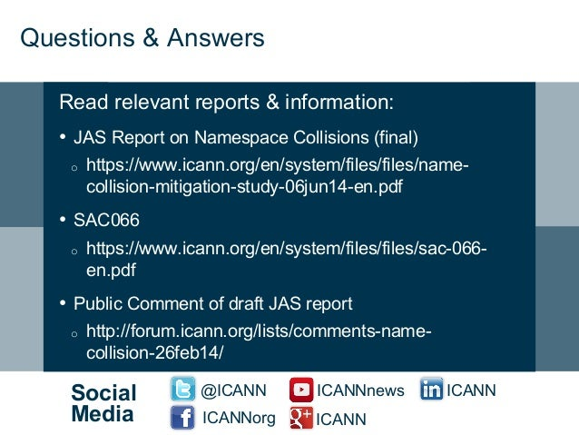 Name Collision Resources & Information - ICANN