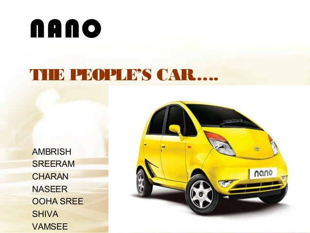 what inspired tata motors to build the nano