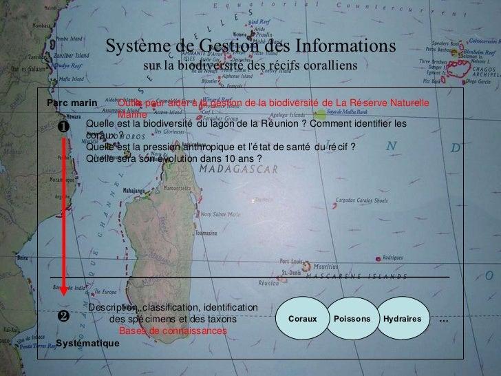 Système de Gestion des Informations sur la biodiversité des récifs coralliens Outils pour aider à la gestion de la biodive...