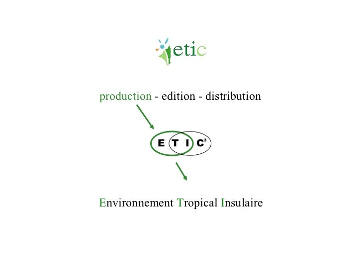 E nvironnement  T ropical  I nsulaire E  T  I  C 3 production  - edition - distribution