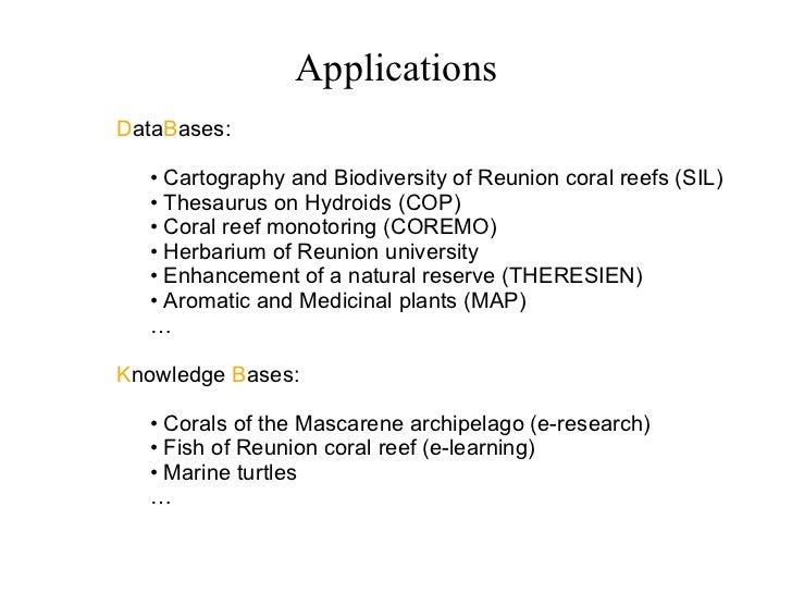 <ul><li>D ata B ases: </li></ul><ul><ul><ul><li>Cartography and Biodiversity of Reunion coral reefs (SIL) </li></ul></ul><...