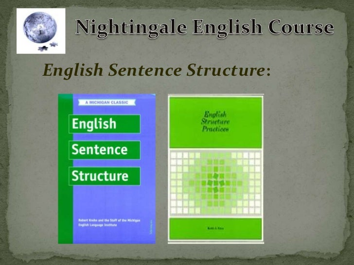English Sentence Structure: