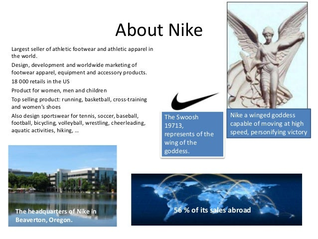 ... Innovation and knowledge \u2022 External analysis; 3. About Nike ...