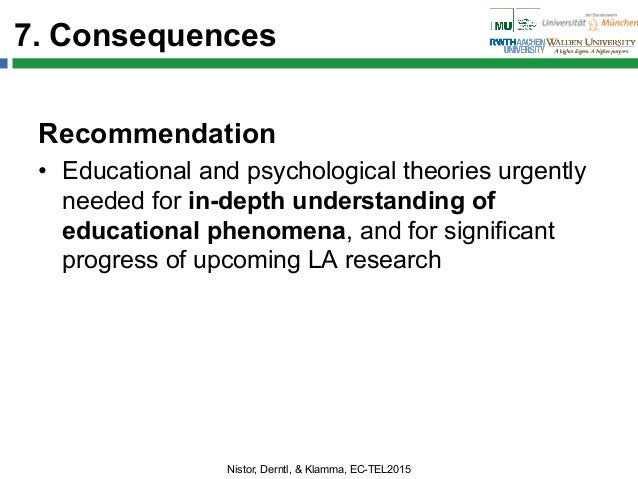 7. Consequences Recommendation • Educational and psychological theories urgently needed for in-depth understanding of edu...