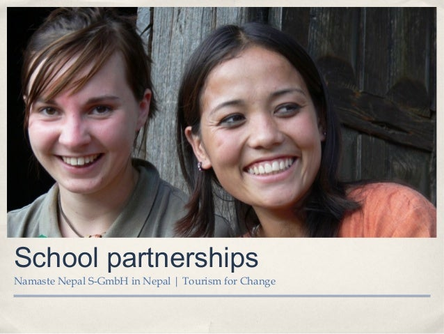School partnershipsNamaste Nepal S-GmbH in Nepal | Tourism for Change