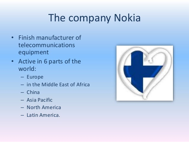 a company analysis of nokia Nokia situation analysis marketing strategy professor: charlene boudreau by:   john he decadia fernander nokia situational analysis company overview.