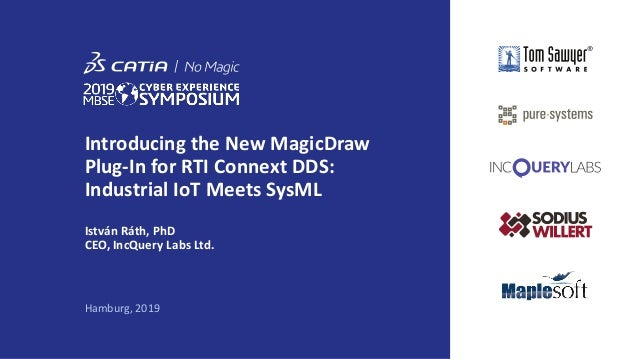 Introducing the New MagicDraw Plug-In for RTI Connext DDS: Industrial IoT Meets SysML István Ráth, PhD CEO, IncQuery Labs ...