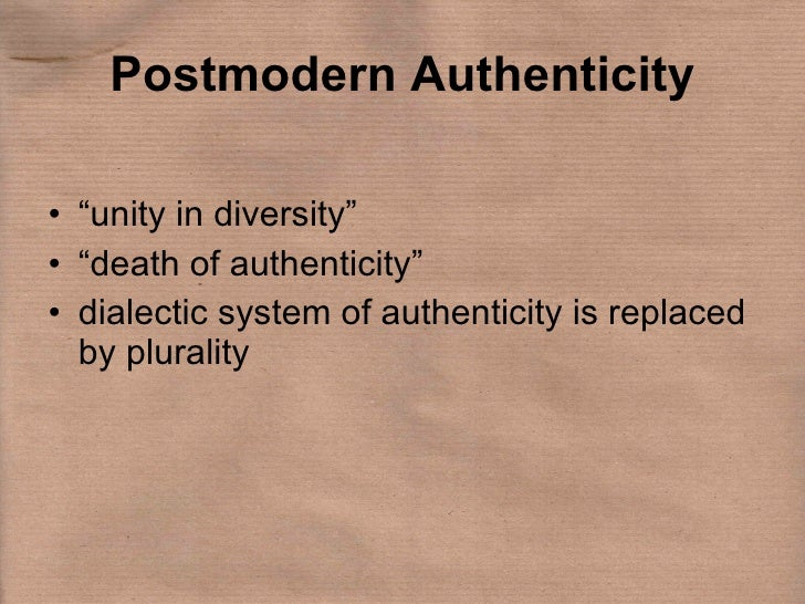 Authenticity: Is it Organizational or is it Marketing?
