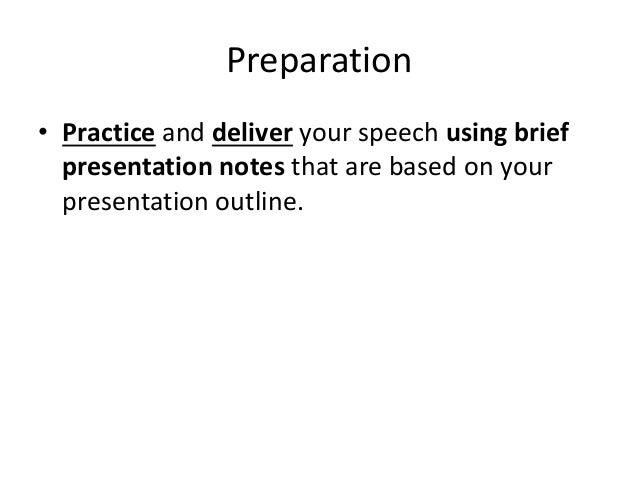speech preparation practice presentation