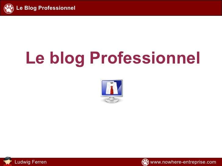 Le blog Professionnel