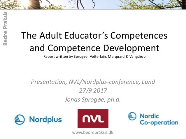 The Adult Educator's Competences and Competence Development Report written by Sprogøe, Vetterlain, Marquard & Vangdrup Pre...